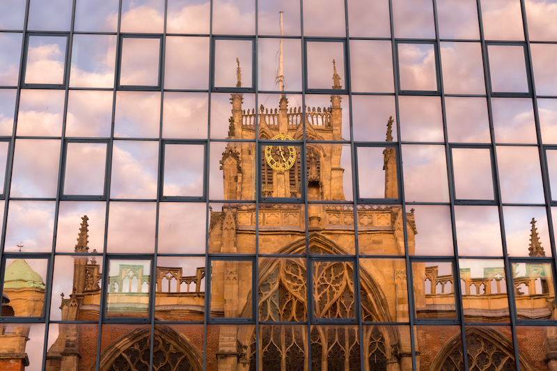 Reflection of Trintity Church, Hull