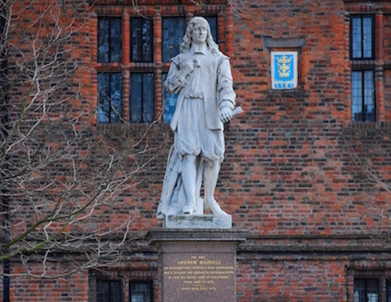 Statue of poet Andrew Marvell, Hull