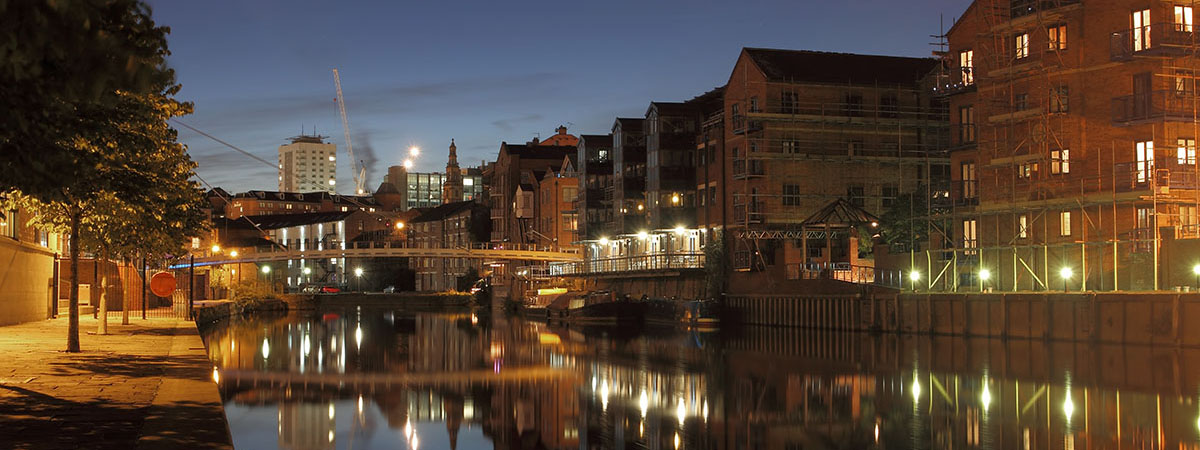 Leeds Bridge from the Brewery.