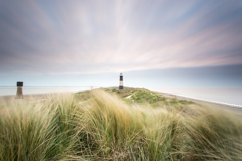 Spurn Point disused lighthouse East Yorkshire