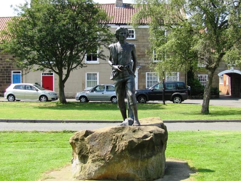 Captain Cook as a farm boy in Great Ayton